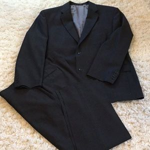 Calvin Klein MENS two piece gray pinstripe suit